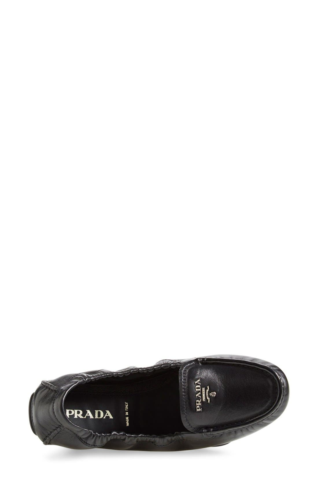 'Scrunch' Driving Loafer,                             Alternate thumbnail 3, color,                             Black Leather