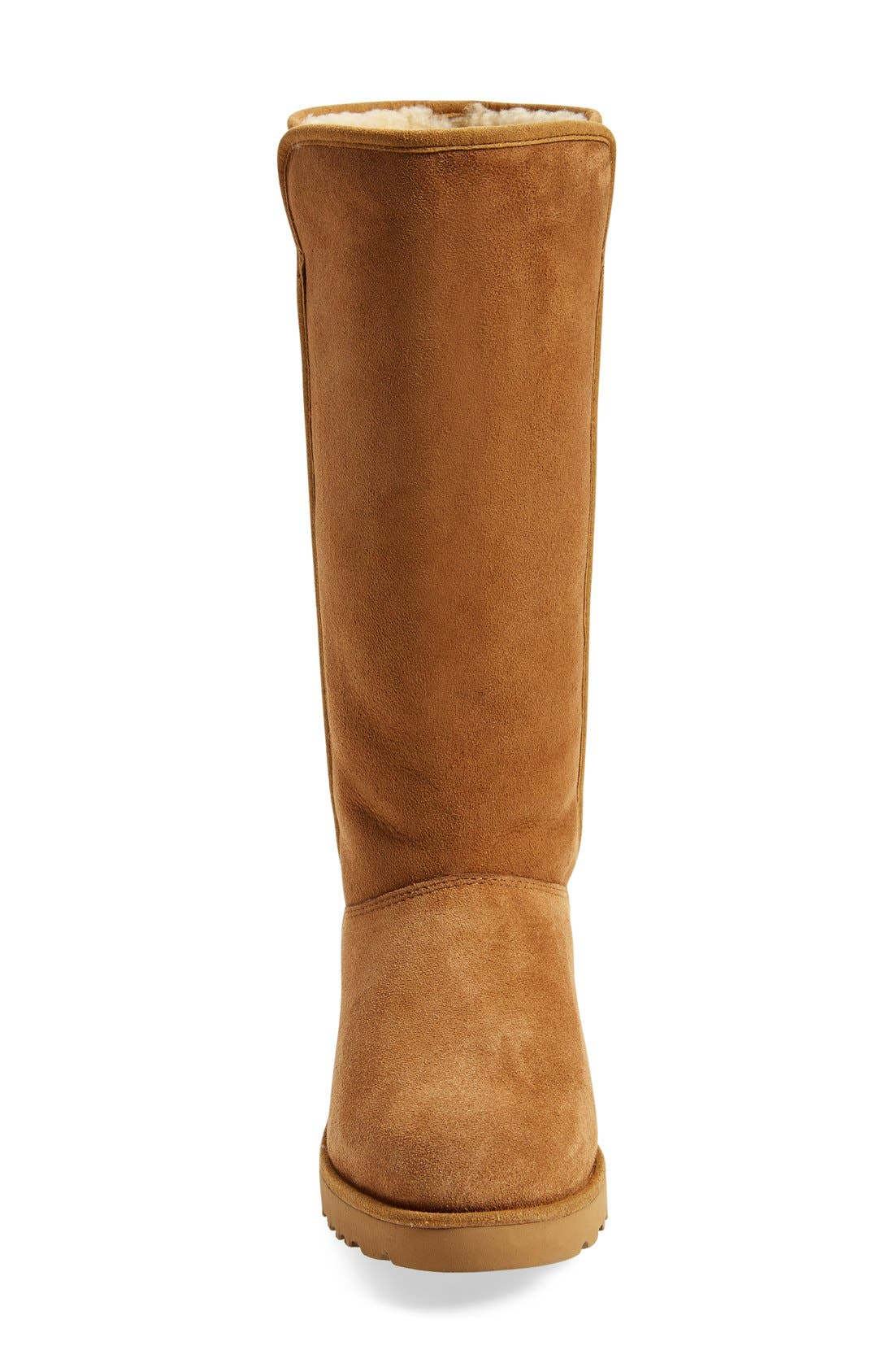 Kara - Classic Slim<sup>™</sup> Water Resistant Tall Boot,                             Alternate thumbnail 3, color,                             Chestnut Suede