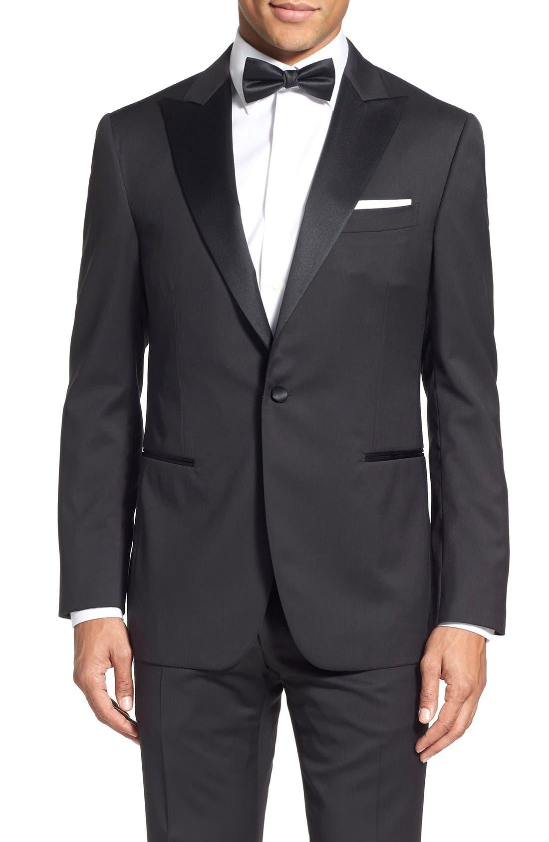Alternate Image 5  - Pal Zileri Classic Fit Wool Tuxedo
