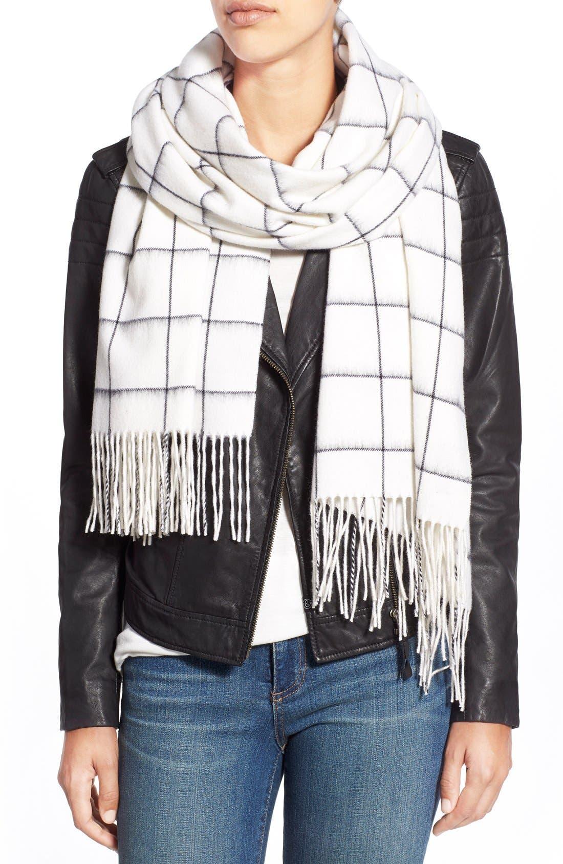 Main Image - rag & bone 'Brushed Check' Merino Wool Scarf