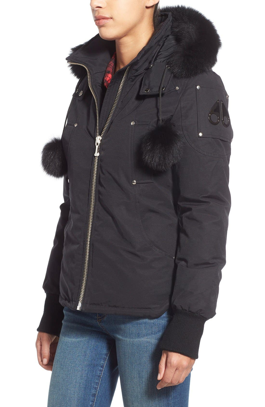 Alternate Image 3  - Moose Knuckles Genuine Fox Fur Trim Hooded Down Jacket