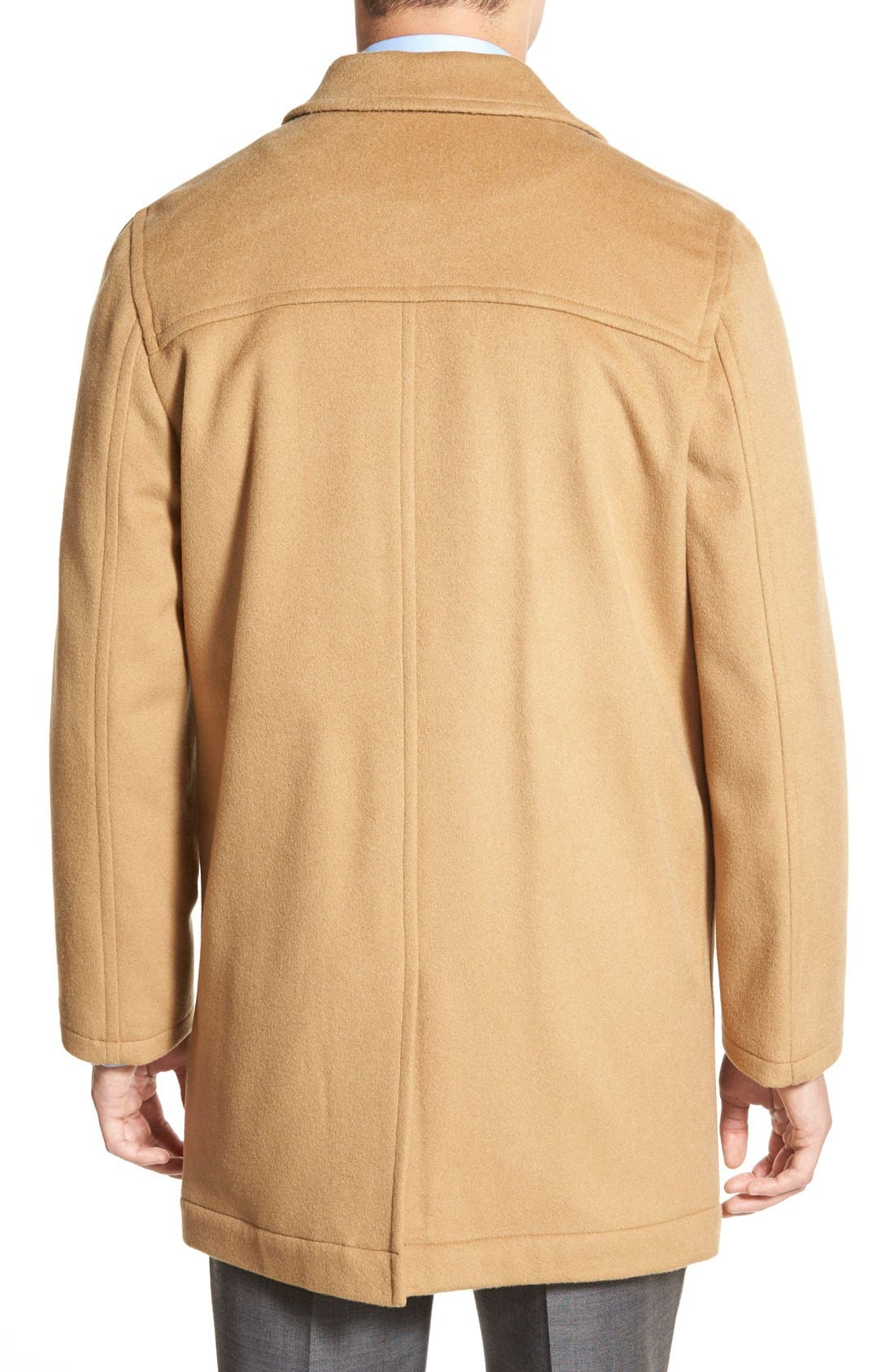 Douglas Modern Fit Wool & Cashmere Overcoat,                             Alternate thumbnail 2, color,                             Camel