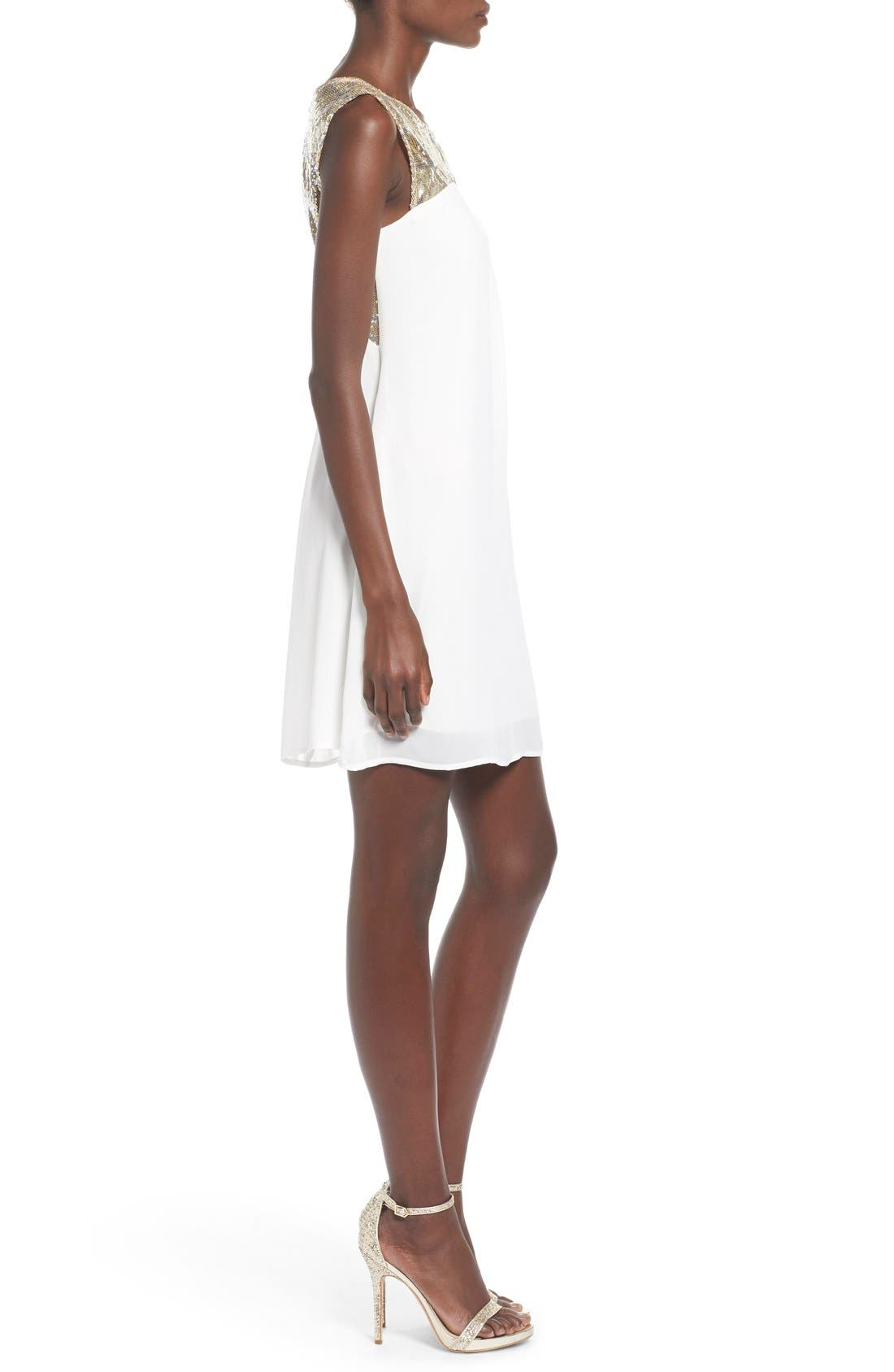 Alternate Image 3  - Sequin Hearts Sequin Yoke Cutout Shift Dress