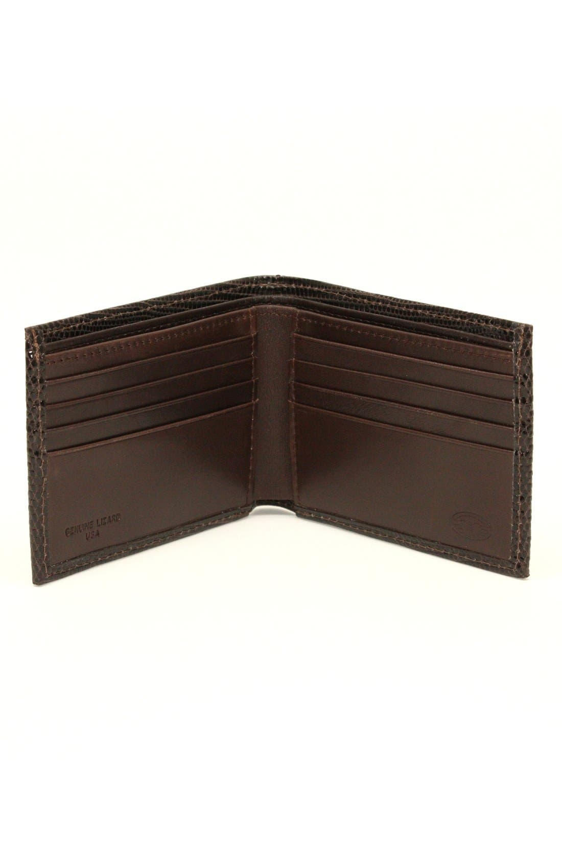 Alternate Image 2  - Torino Belts Genuine Lizard Wallet