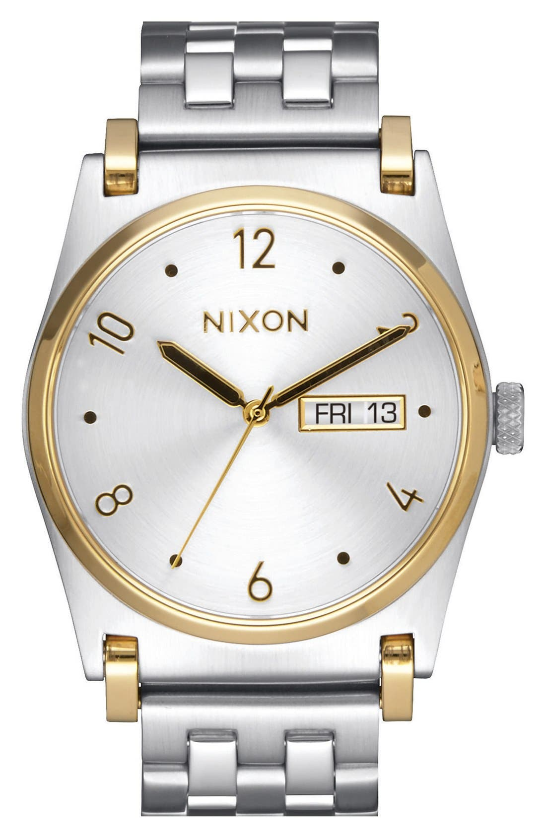 'Jane' Bracelet Watch, 35mm,                         Main,                         color, Silver/ White