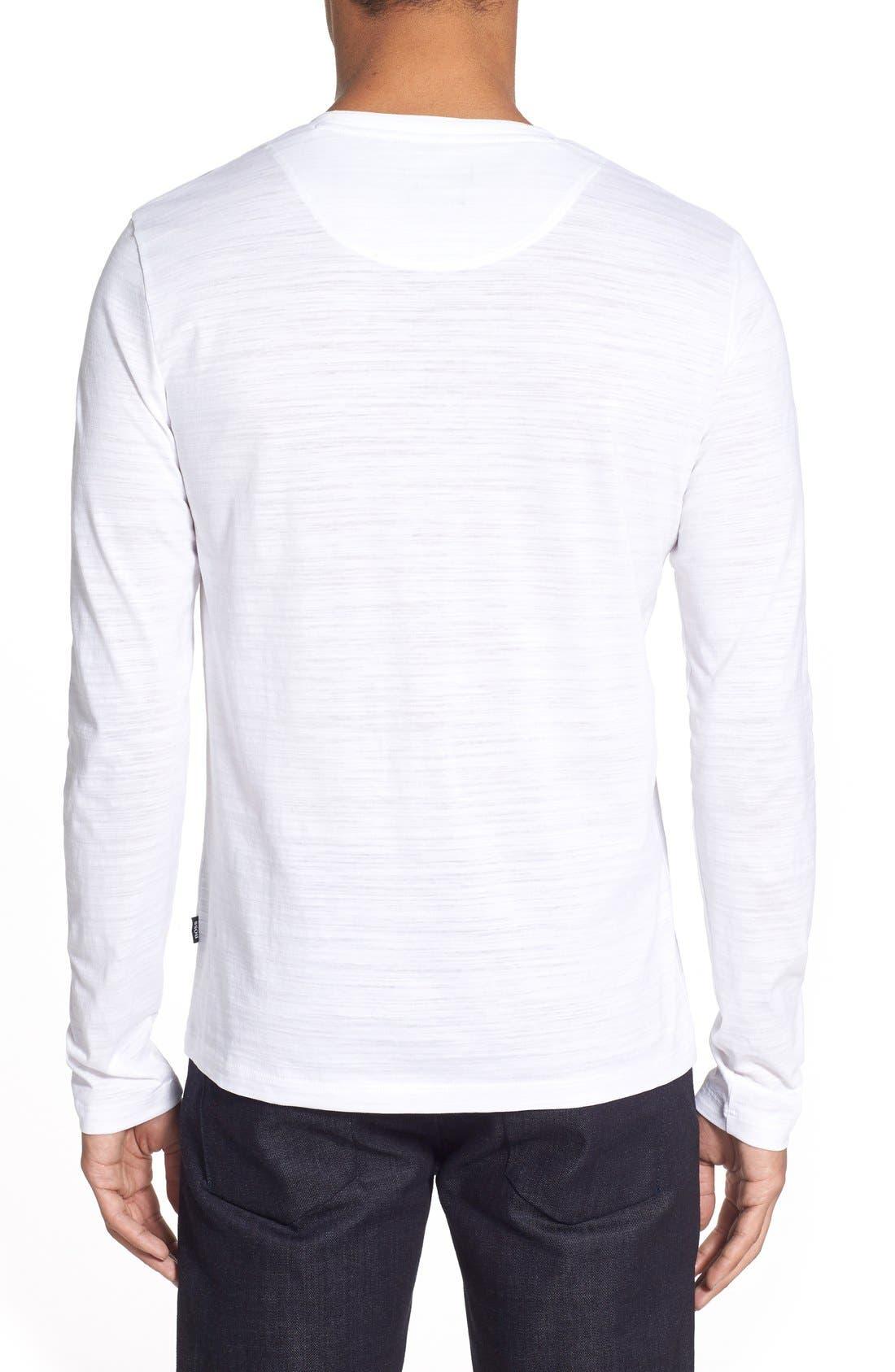 'Tyson' V-Neck Long Sleeve T-Shirt,                             Alternate thumbnail 2, color,                             White