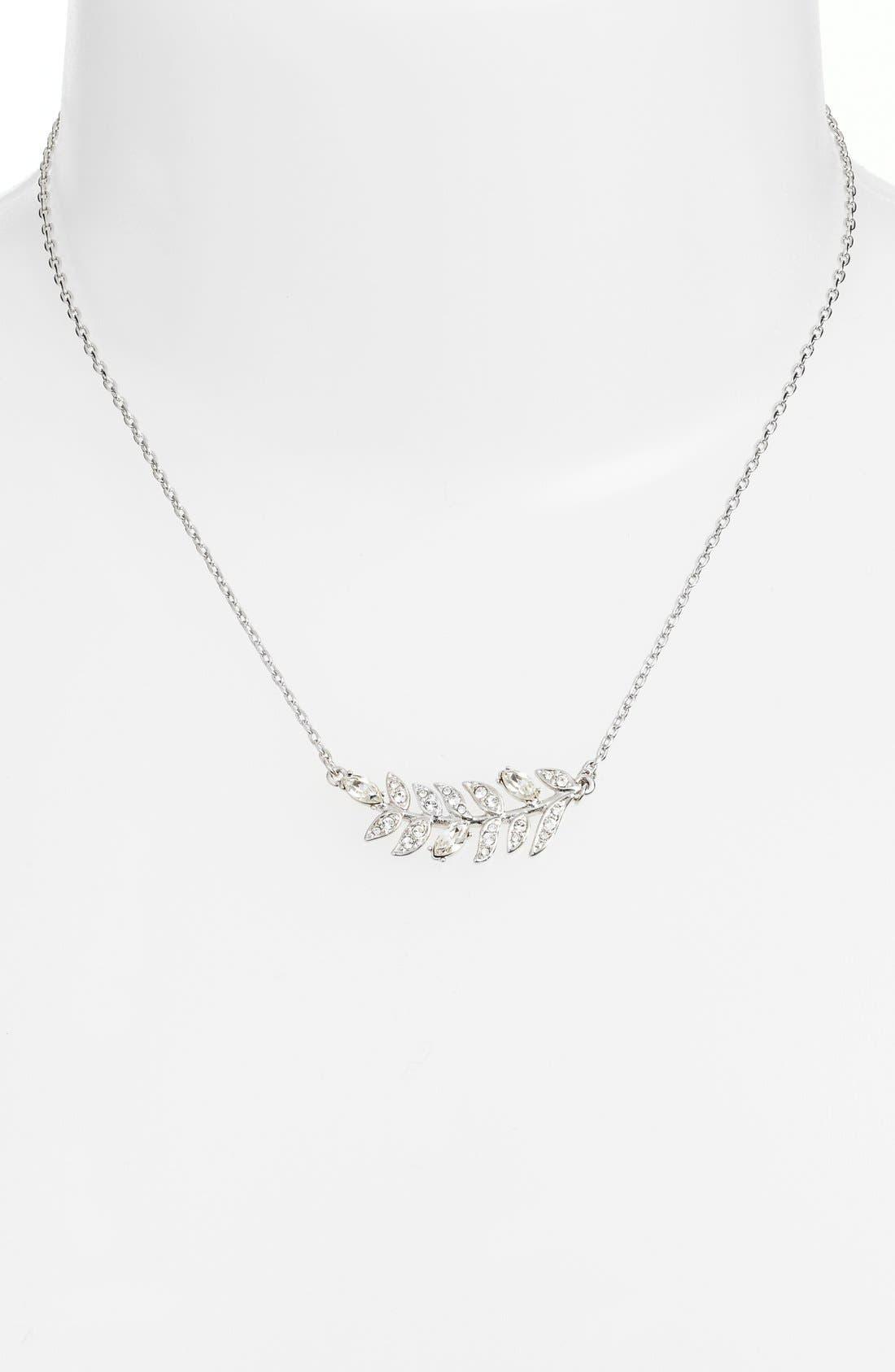 Alternate Image 2  - Marchesa 'Leaf' Pendant Necklace
