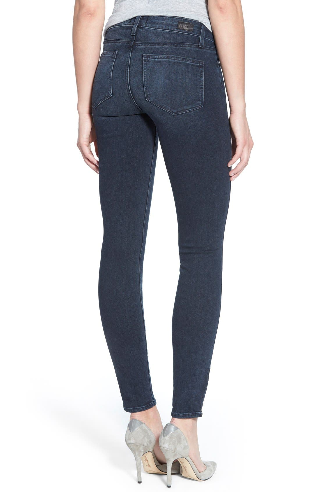 Denim 'Jill' Ultra Skinny Jeans,                             Alternate thumbnail 2, color,                             Reed No Whiskers