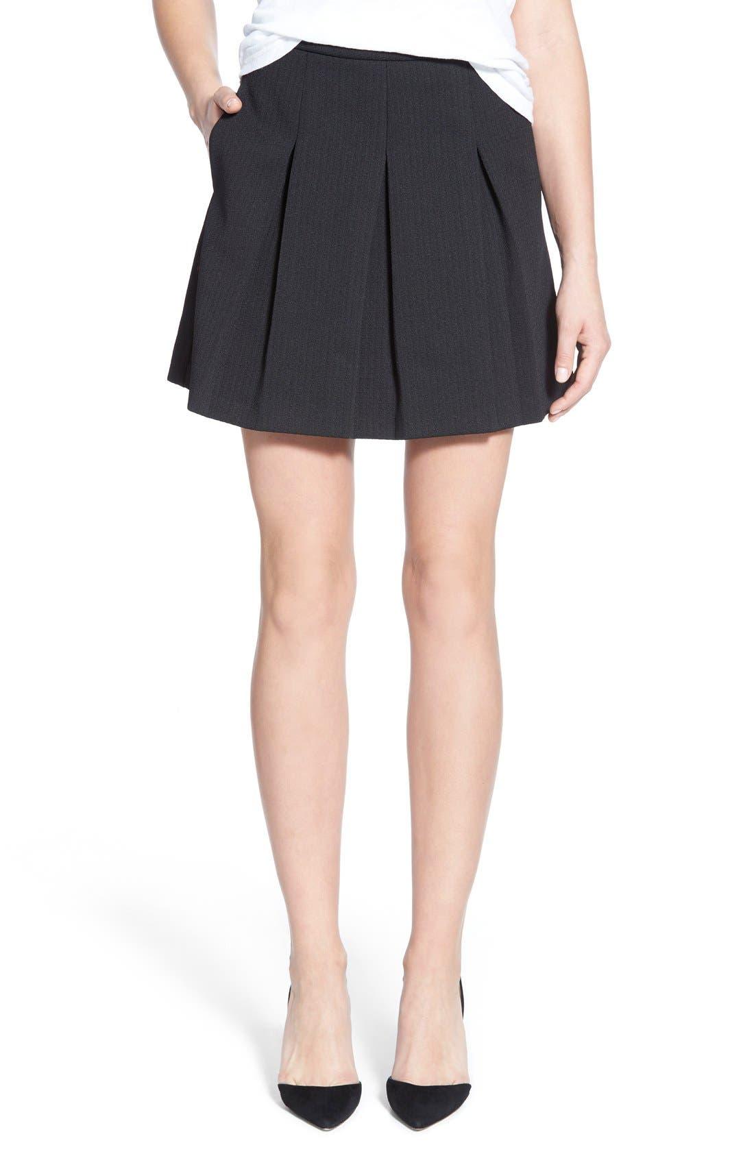 Alternate Image 1 Selected - Madewell Jacquard Pleat Skirt