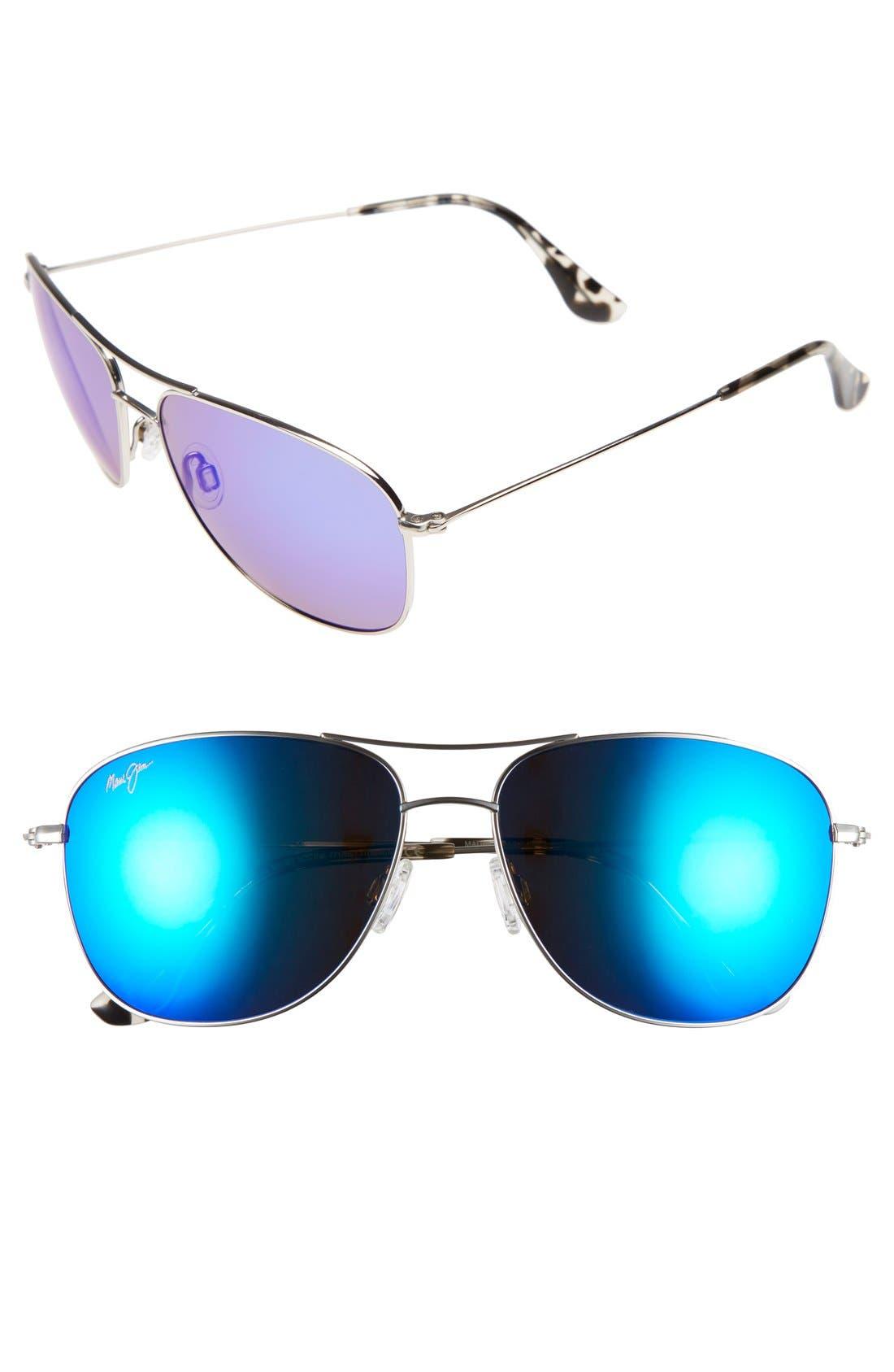 MAUI JIM Cliff House 59mm PolarizedPlus2<sup>®</sup> Metal Aviator Sunglasses