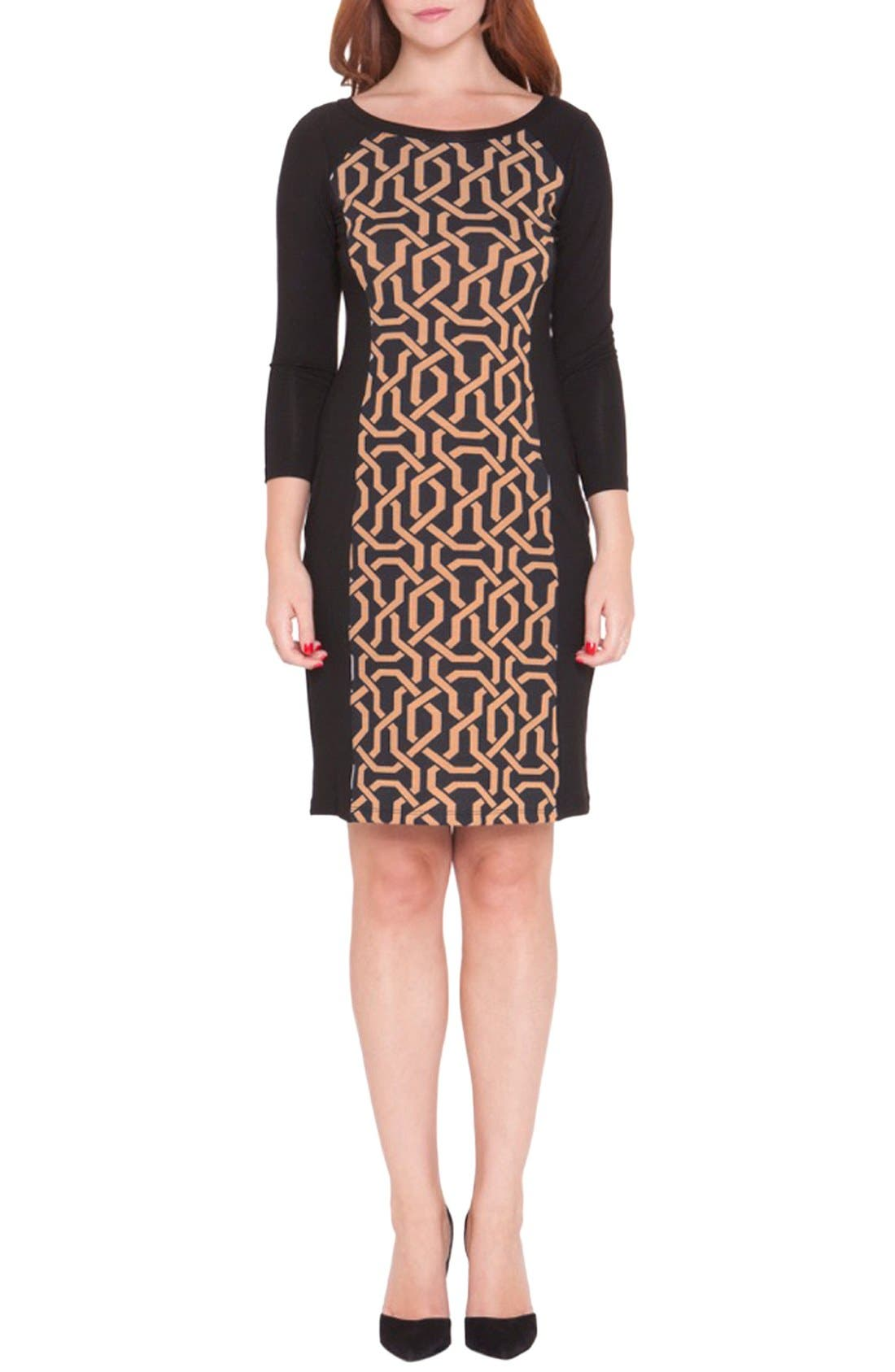 Alternate Image 1 Selected - Olian Graphic Print Maternity Dress