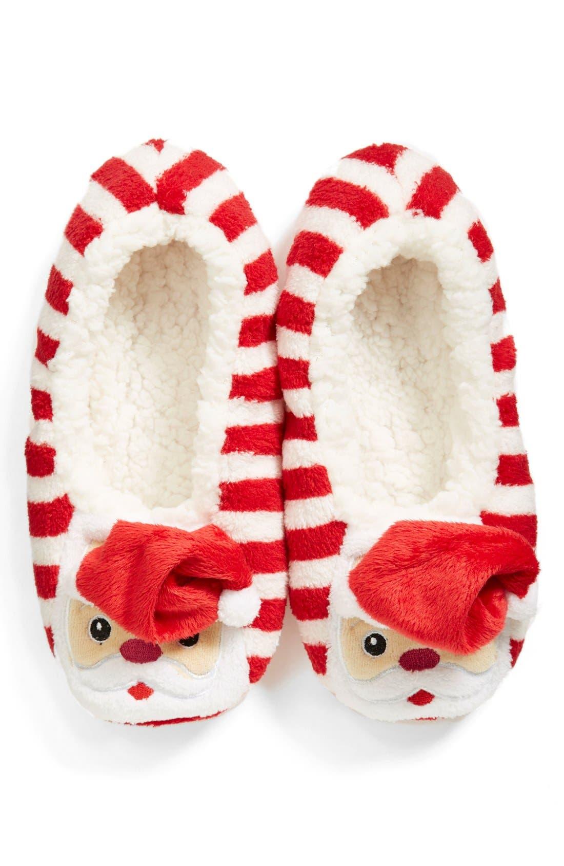 Main Image - Capelli of New York 'Santa' Cozy Slipper Socks