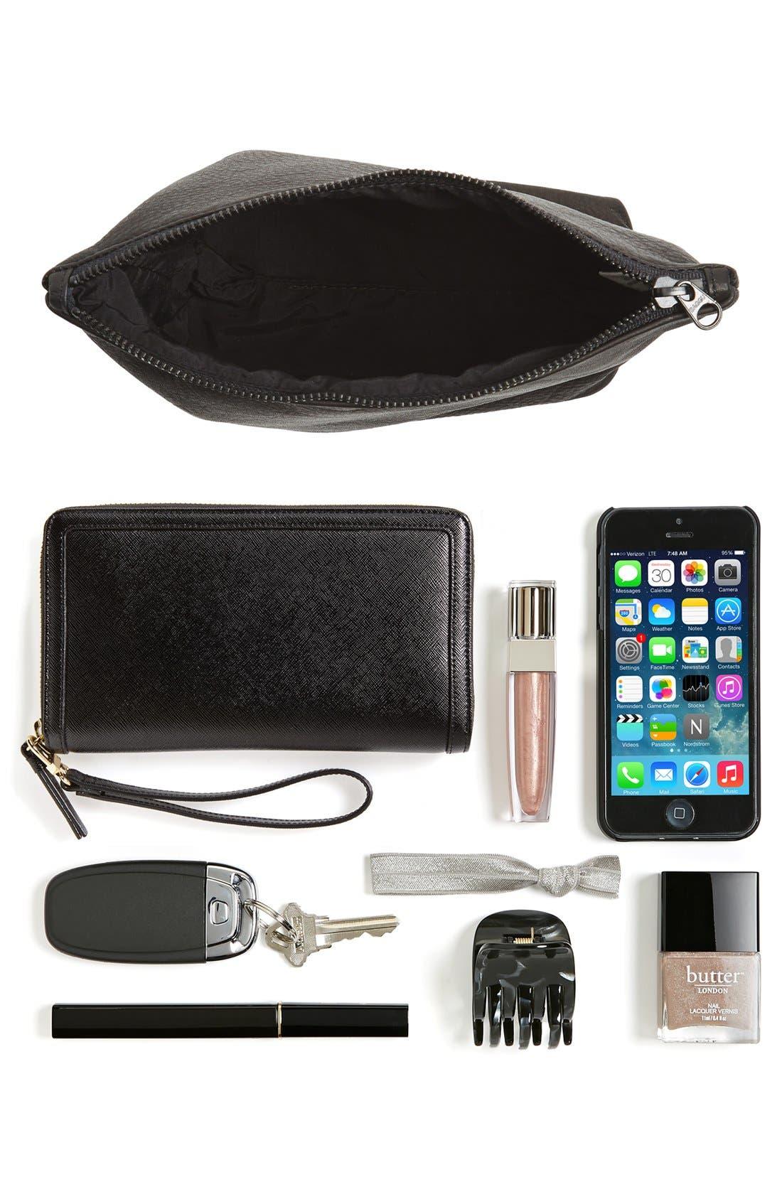Alternate Image 7  - Baggu® Medium Leather Zip Pouch
