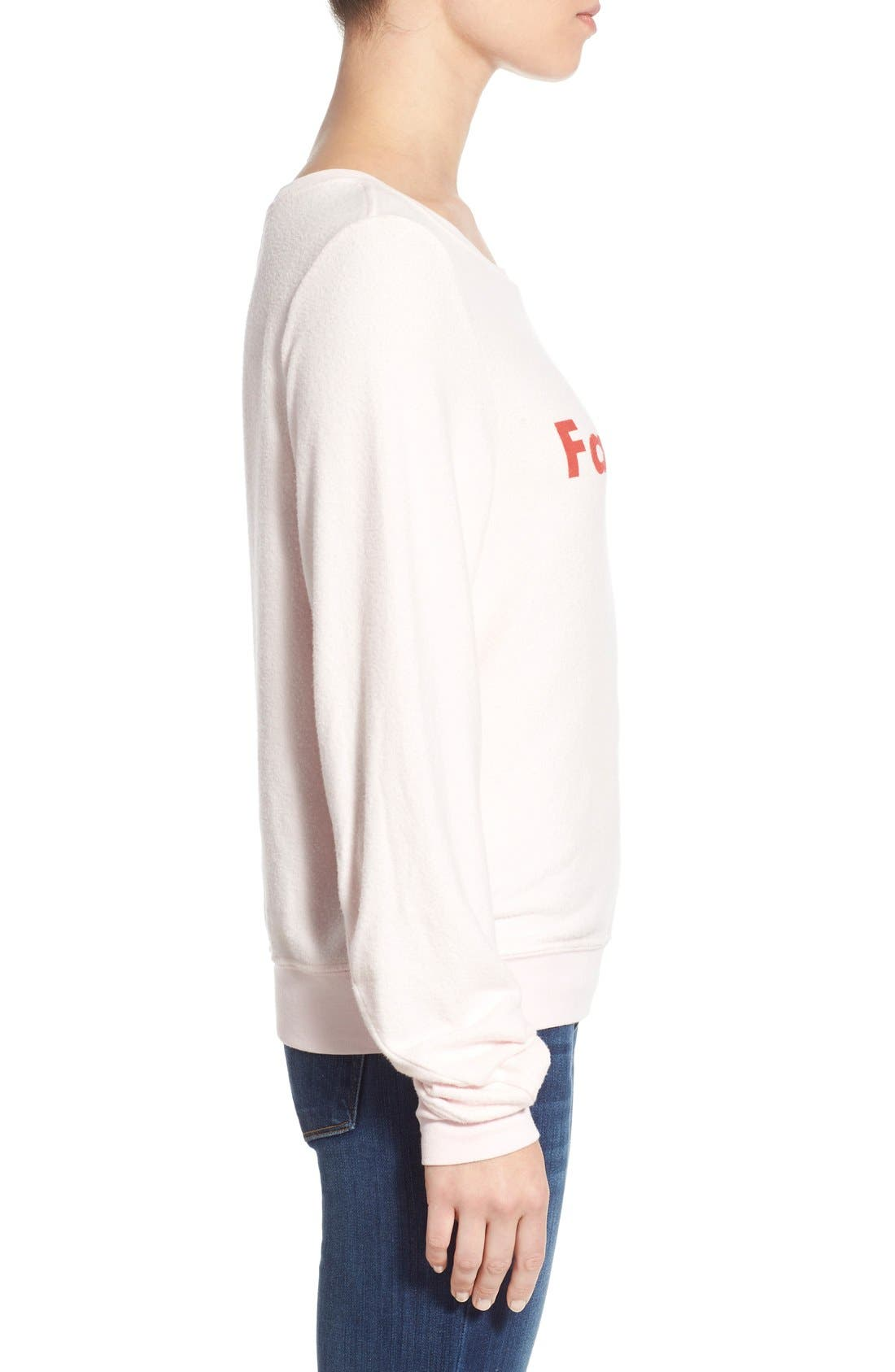 Alternate Image 3  - Wildfox 'Baggy Beach Jumper - FaLaLaLa' Pullover