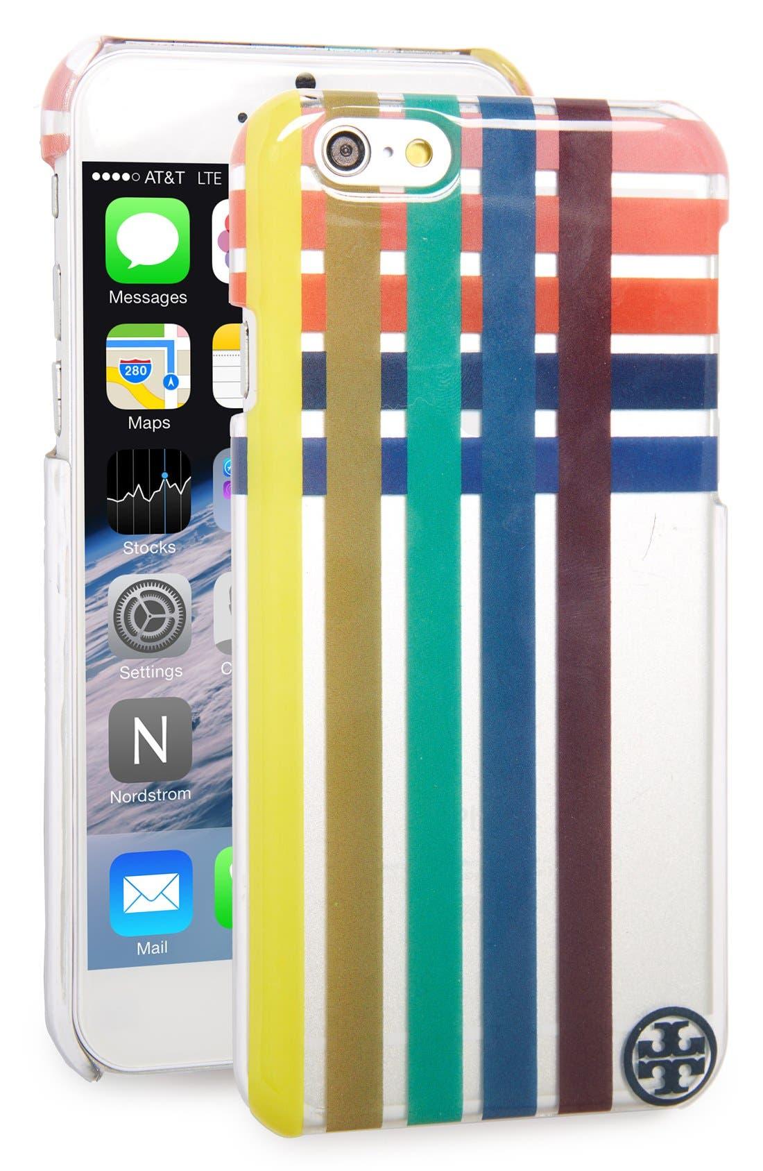 Main Image - Tory Burch Multicolor Stripe Hardshell iPhone 6 & 6s Case