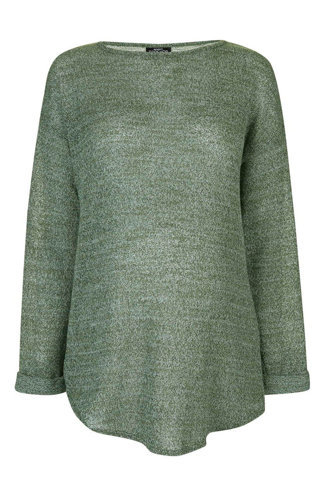 Alternate Image 1 Selected - Topshop Long Sleeve Knit Maternity Top