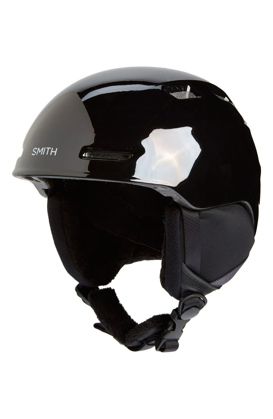'Zoom Jr.' Snow Helmet,                             Main thumbnail 1, color,                             Black