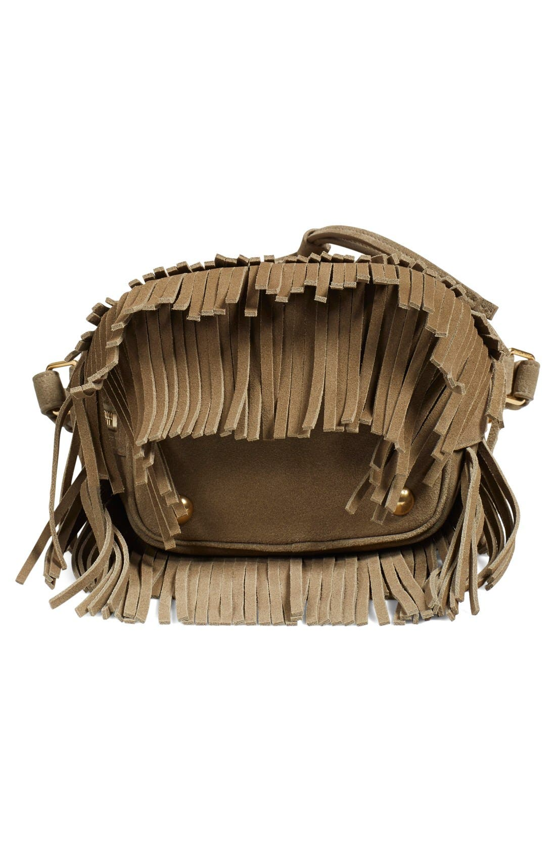 Alternate Image 5  - Saint Laurent 'Emmanuelle' Suede Fringe Bucket Bag