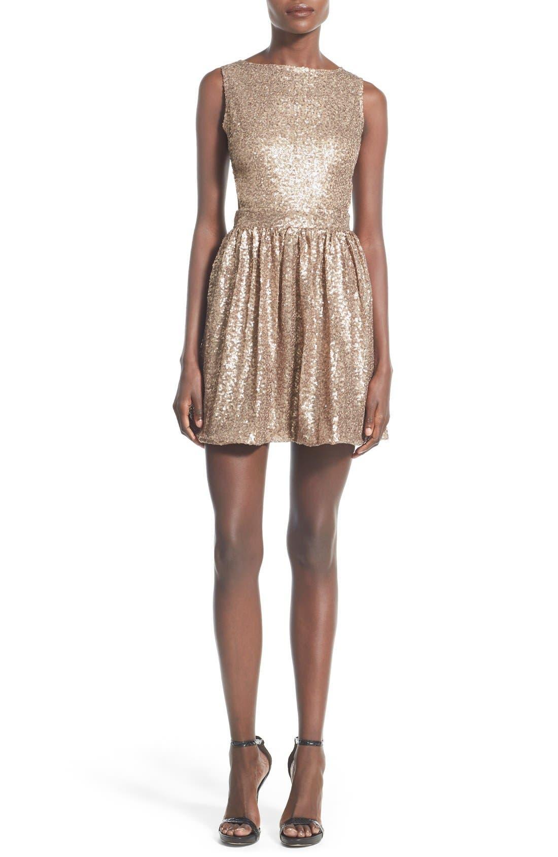 Main Image - Raga Sequin Cutout Sleeveless Dress