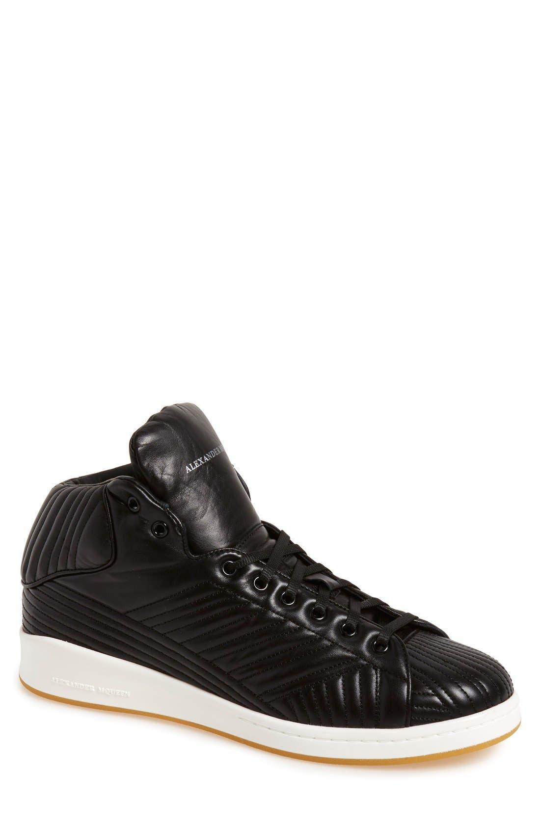 Alternate Image 1 Selected - Alexander McQueen Quilted High Top Sneaker (Men)