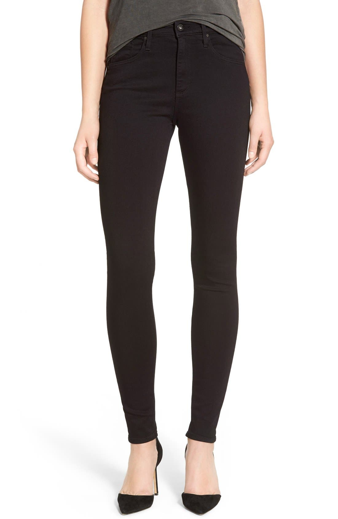 ASOS DESIGN Maternity Ridley high waist skinny jeans in extreme dark stonewash with button fly and ripped knee with unde. £ Weekday Thursday High Waist Skinny Jeans. £ New Look Petite contrast stitch paper bag jeans in black. £