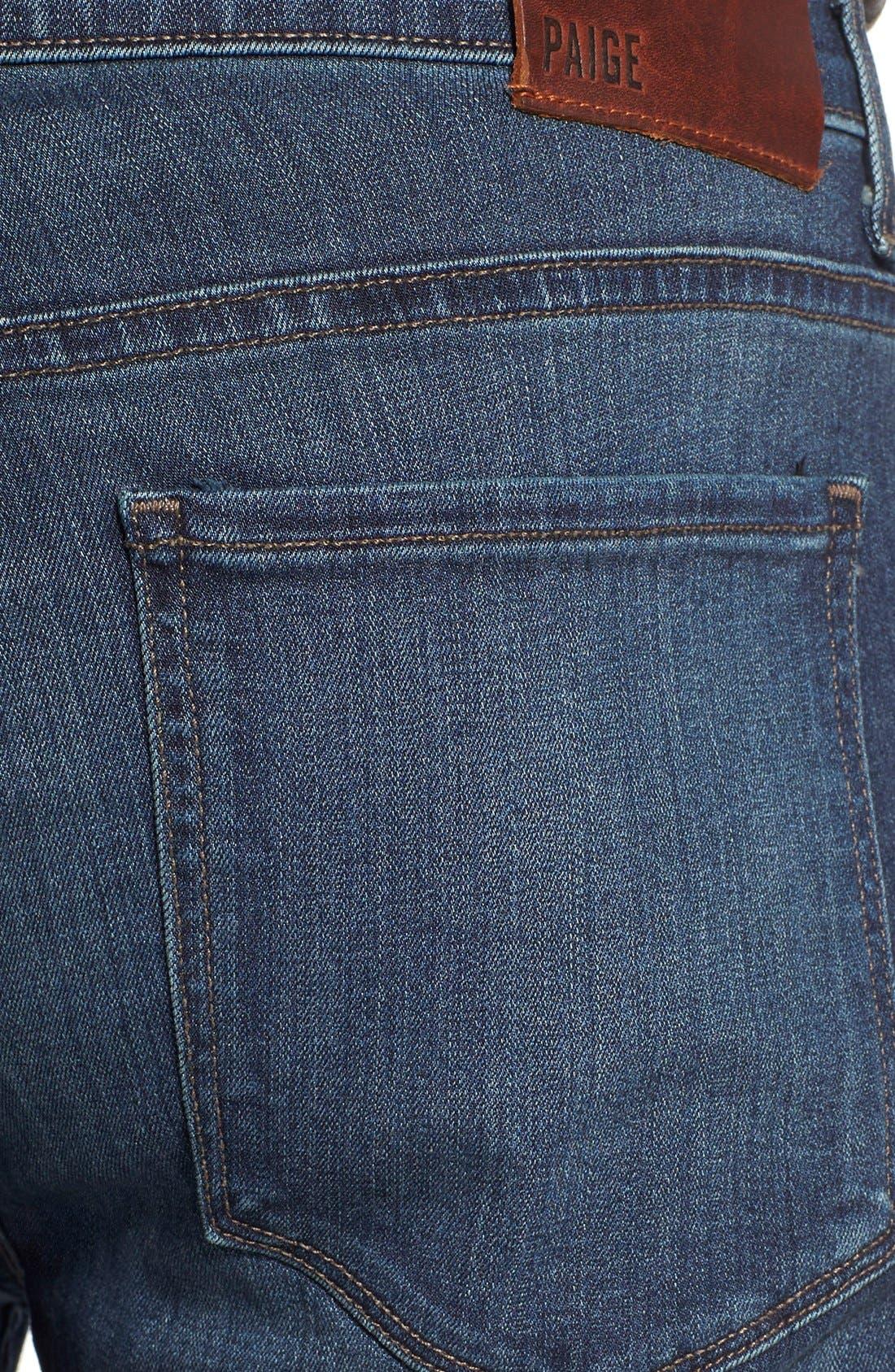 Alternate Image 4  - PAIGE 'Federal' Slim Straight Leg Jeans (Blakely)