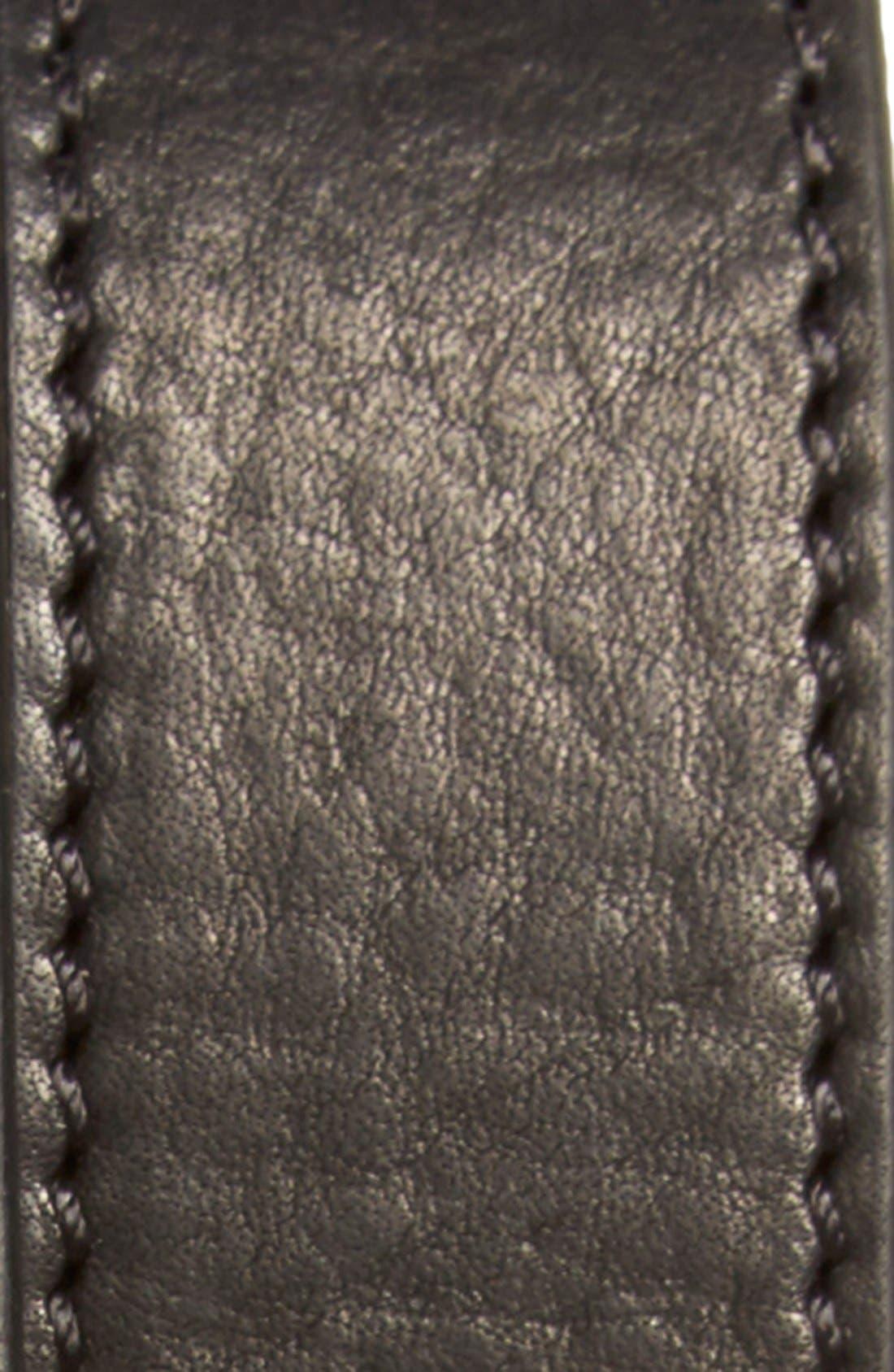 Leather Roller Belt,                             Alternate thumbnail 2, color,                             Black