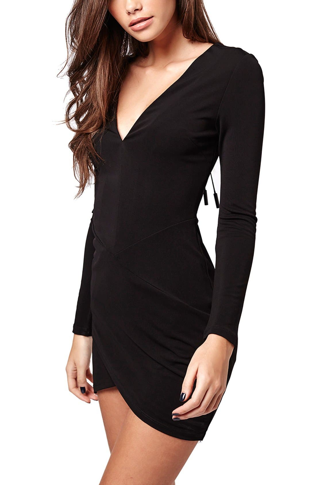 Alternate Image 2  - KENDALL + KYLIE at Topshop Plunge Lace-Up Minidress