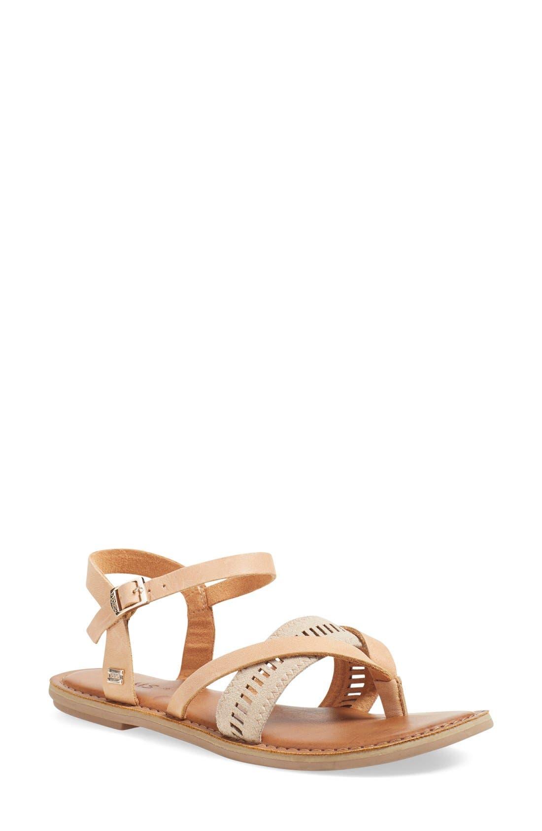'Lexie' Sandal,                             Main thumbnail 1, color,                             Sandstorm Leather