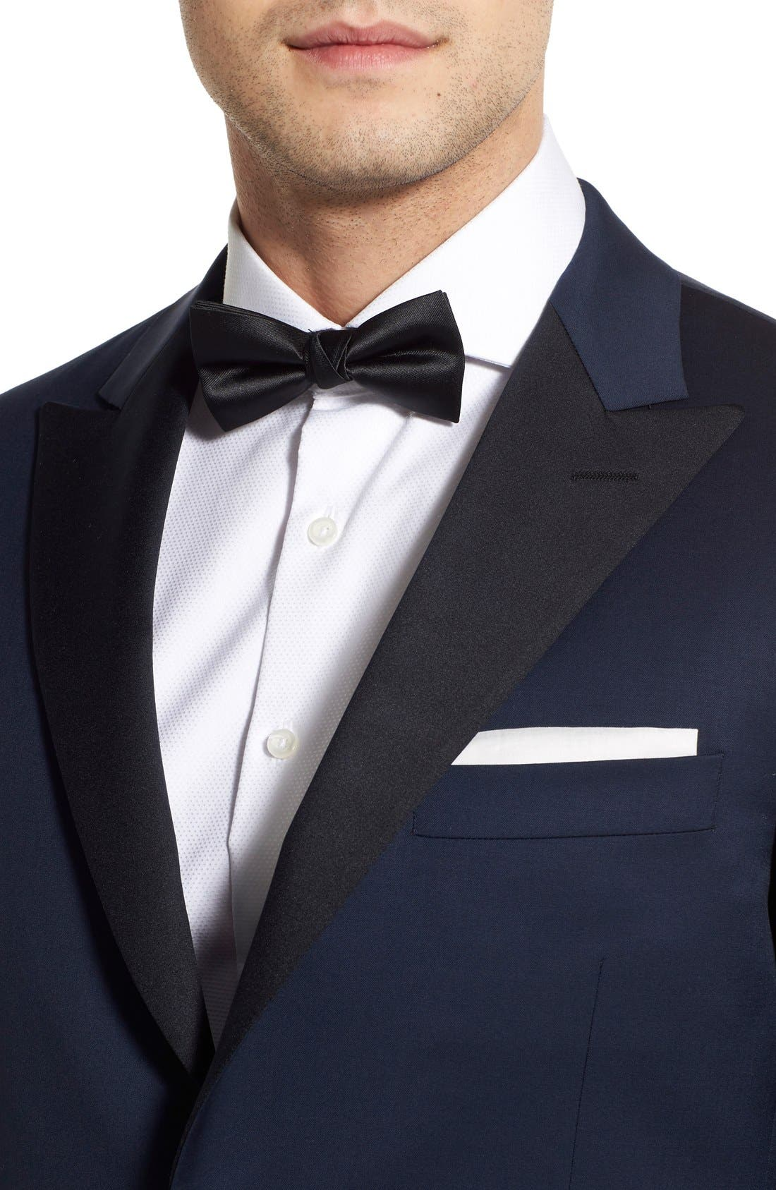 Alternate Image 4  - Hickey Freeman Classic B Fit Wool Tuxedo