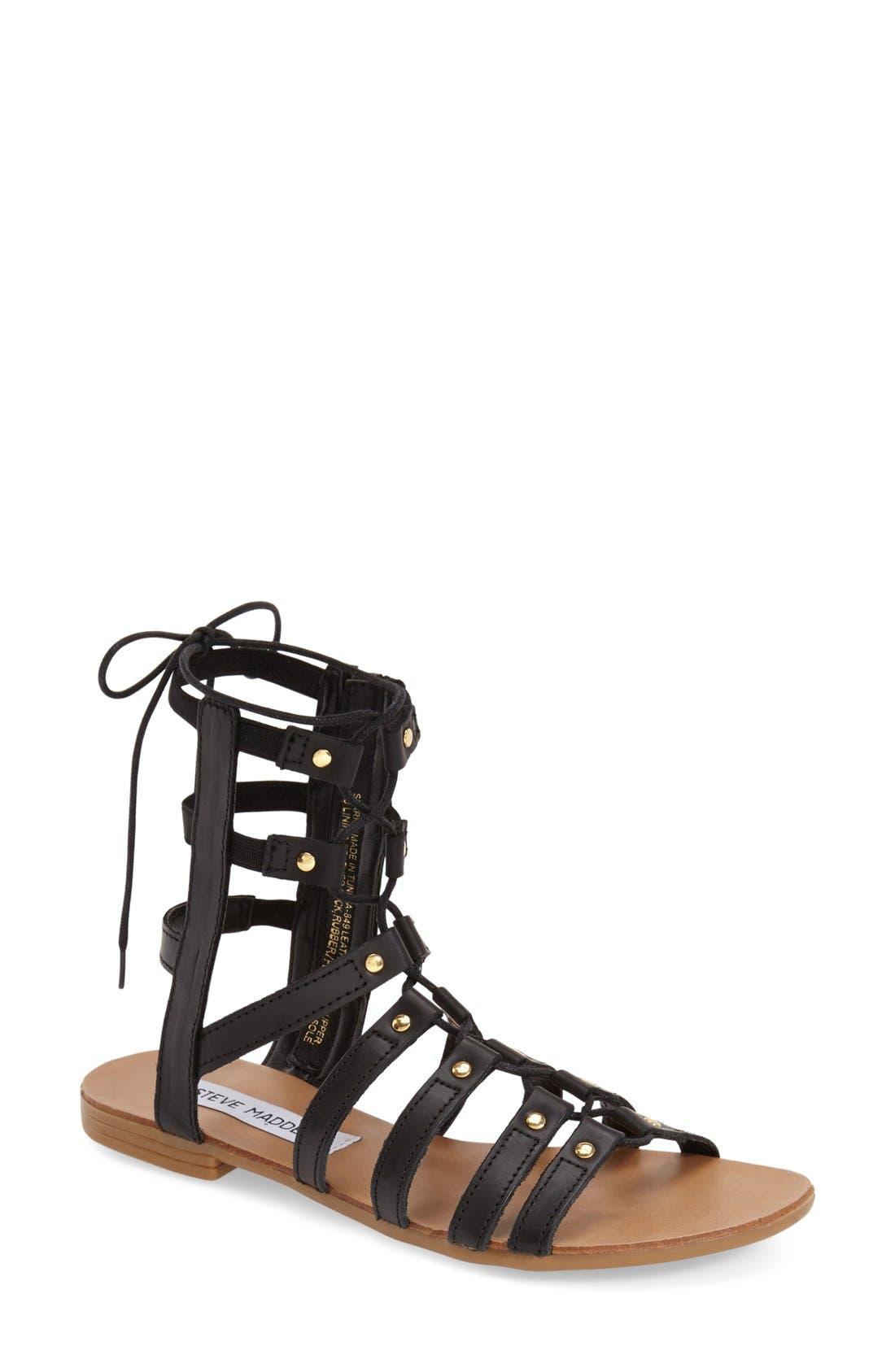Main Image - Steve Madden 'Sparra' Gladiator Sandal (Women)