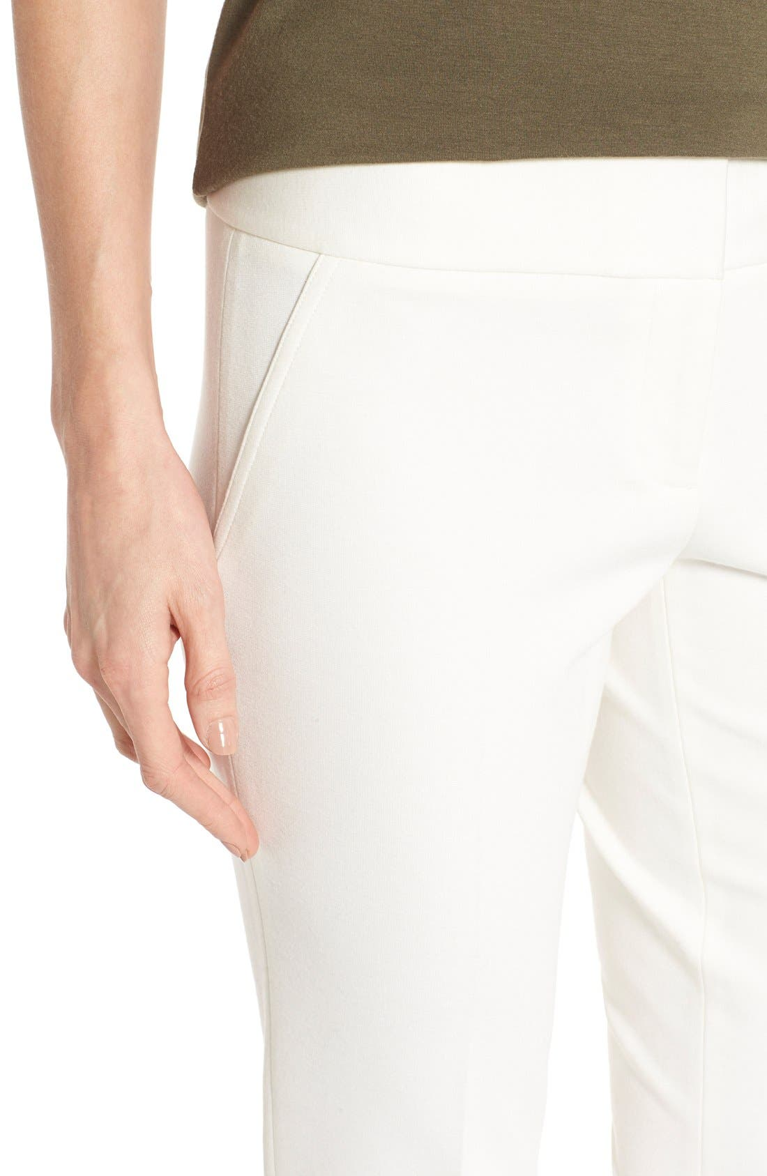 Ponte Ankle Pants,                             Alternate thumbnail 4, color,                             Vanilla