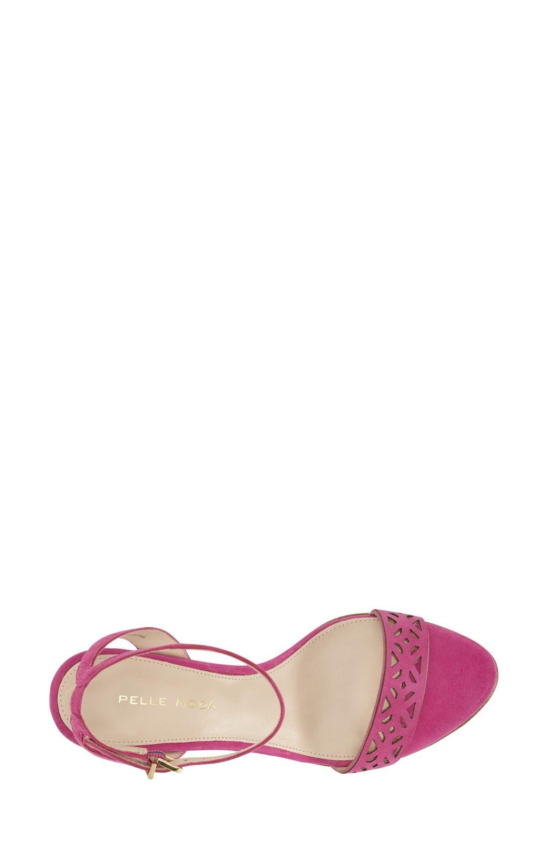 'Otis' Ankle Strap Sandal,                             Alternate thumbnail 3, color,                             Sugarplum