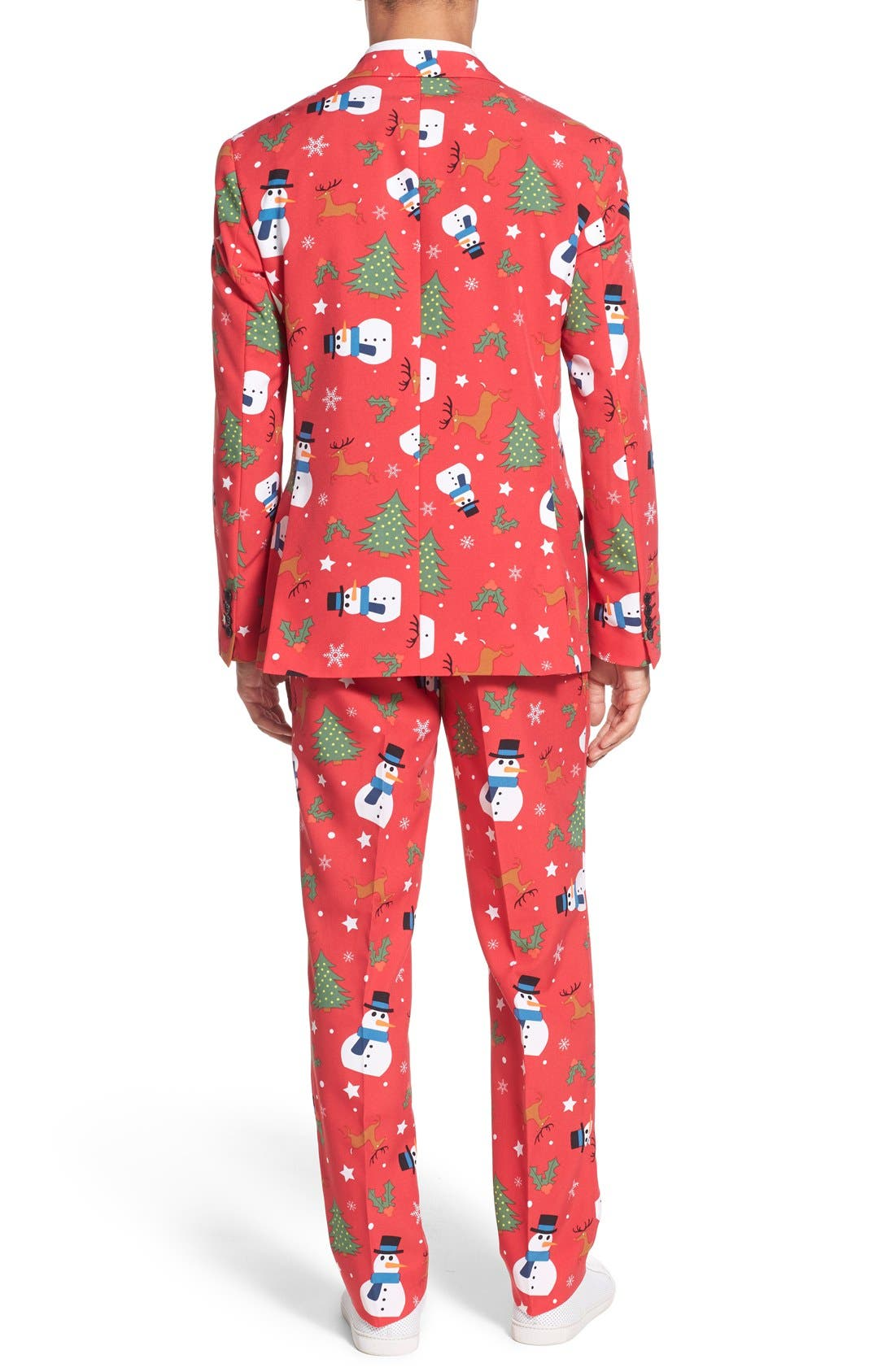 'Christmaster' Holiday Suit & Tie,                             Alternate thumbnail 2, color,                             Red