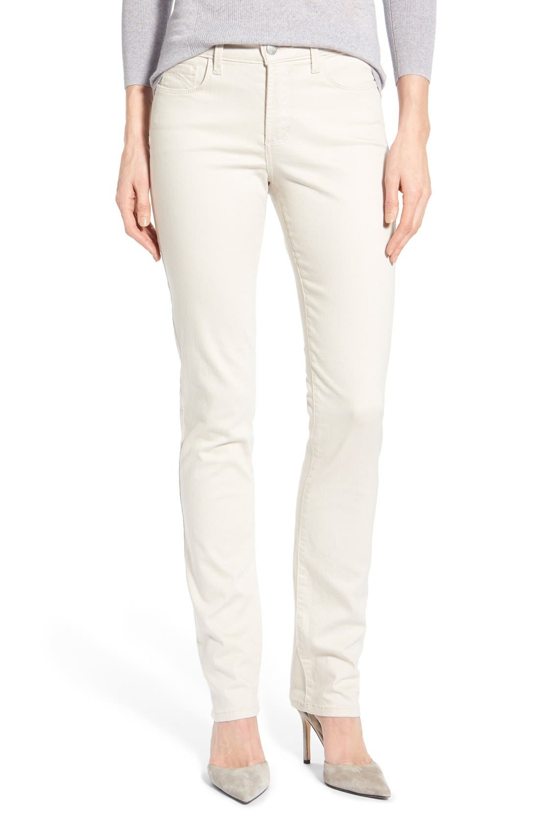 Alternate Image 1 Selected - NYDJ 'Samantha' Stretch Slim Straight Leg Jeans (Regular & Petite)