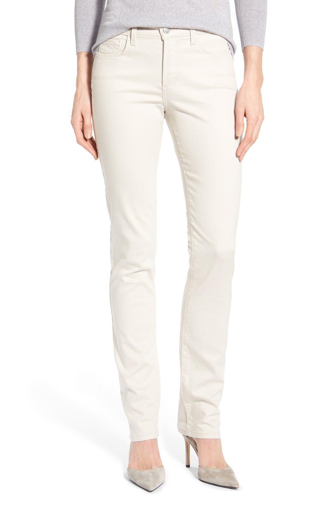 'Samantha' Stretch Slim Straight Leg Jeans,                         Main,                         color, Clay