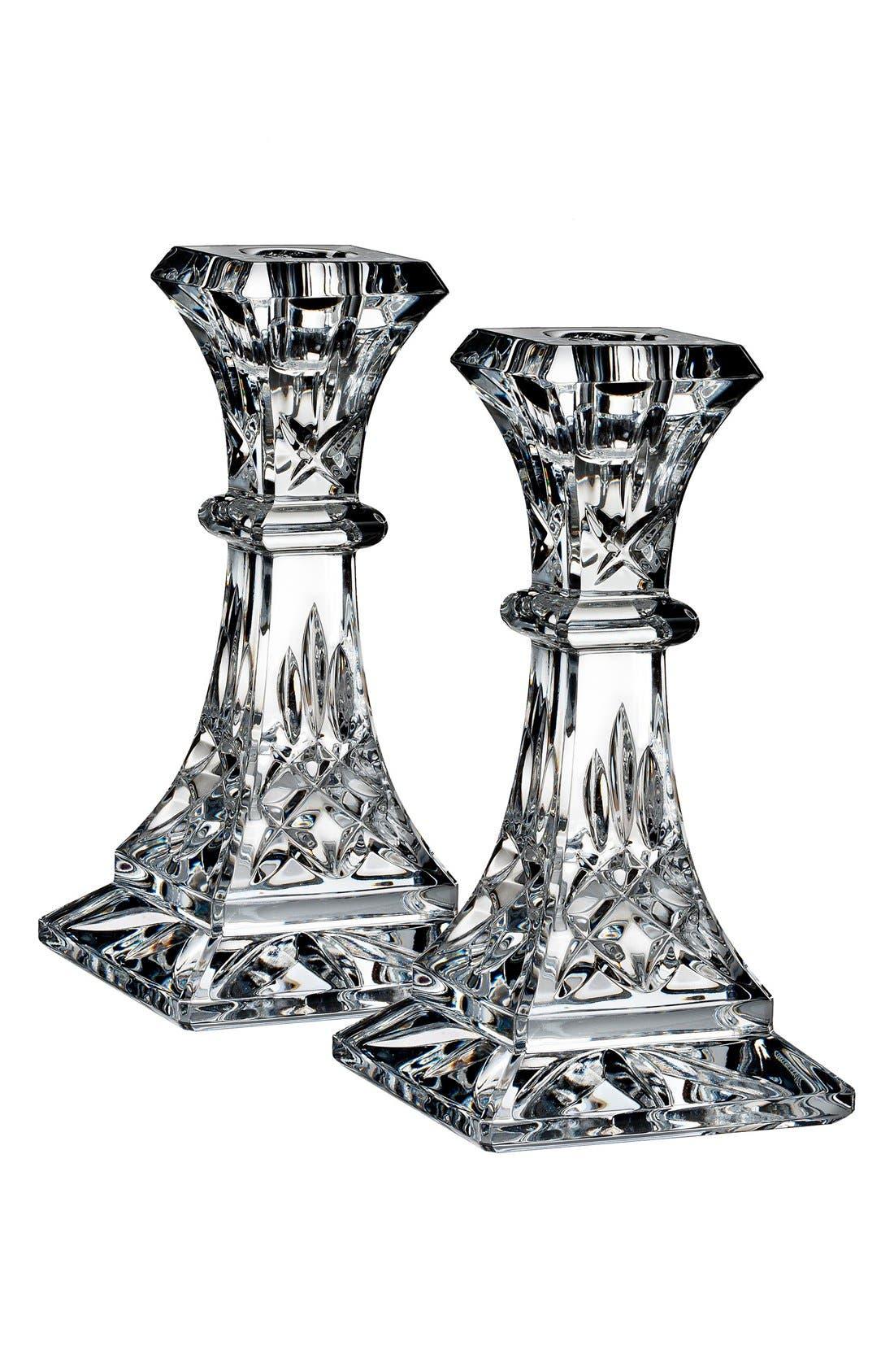 Alternate Image 4  - Waterford 'Lismore' Lead Crystal Candlesticks (Set of 2)
