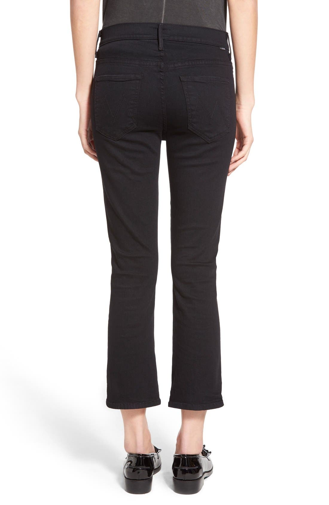 Alternate Image 2  - MOTHER The Insider High Rise Crop Bootcut Jeans (Not Guilty)