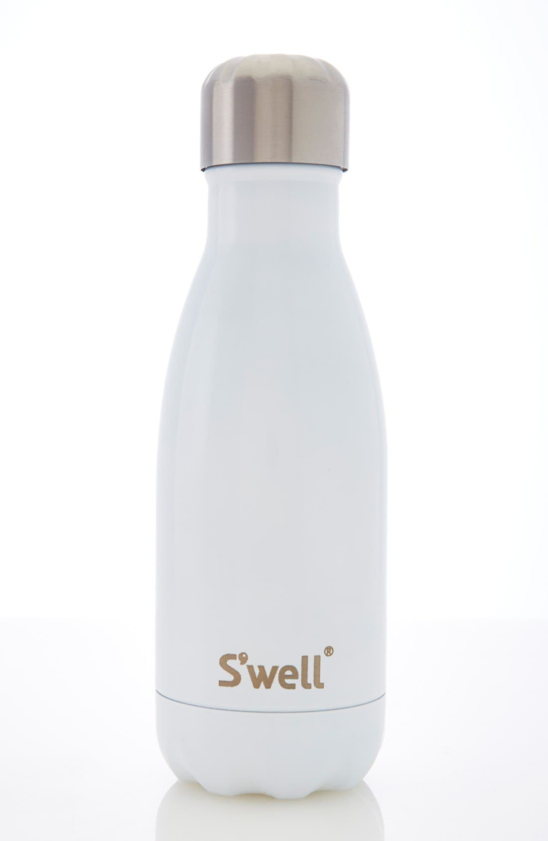 'Angel Food' Insulated Stainless Steel Water Bottle,                             Alternate thumbnail 4, color,                             Angel Food