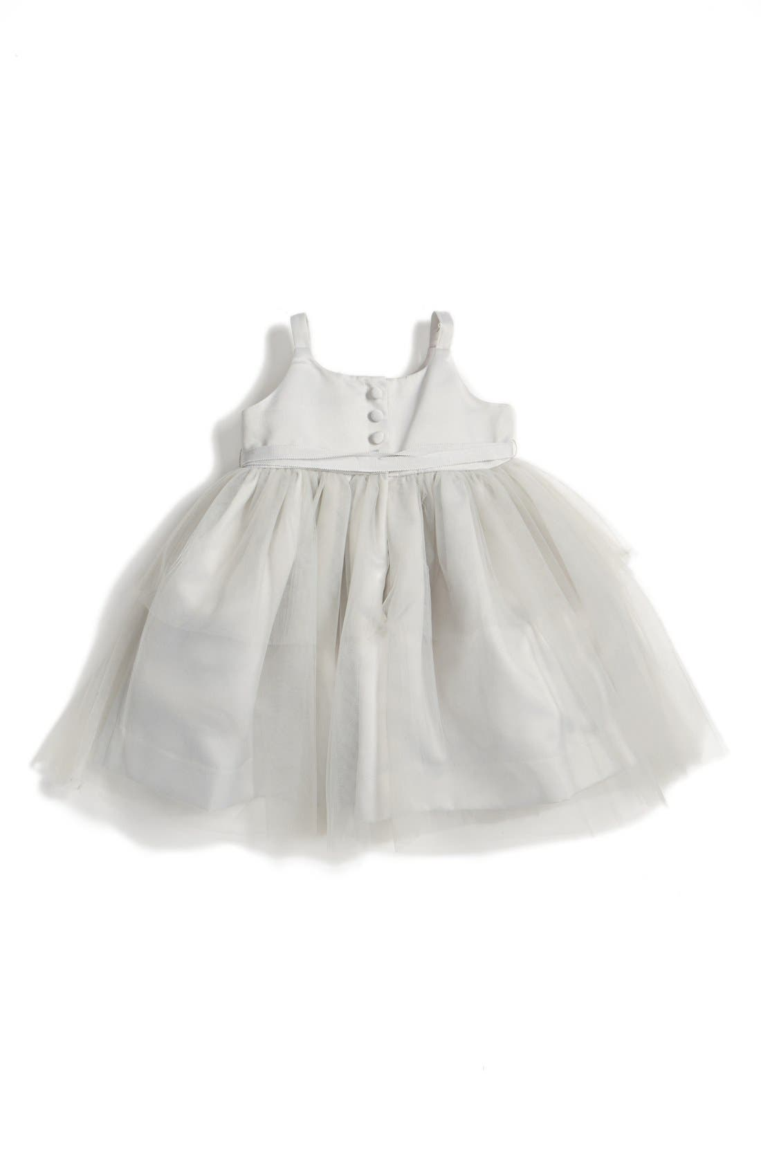 Tulle Ballerina Dress,                             Alternate thumbnail 2, color,                             Silver
