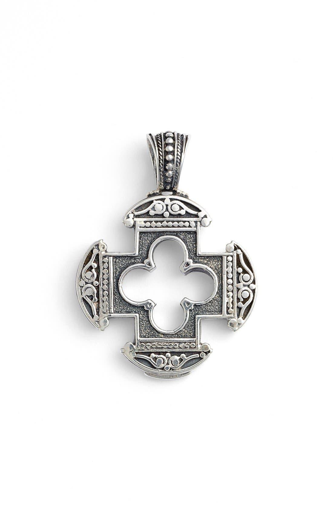 Silver Classics Cutout Cross Pendant,                         Main,                         color, Silver