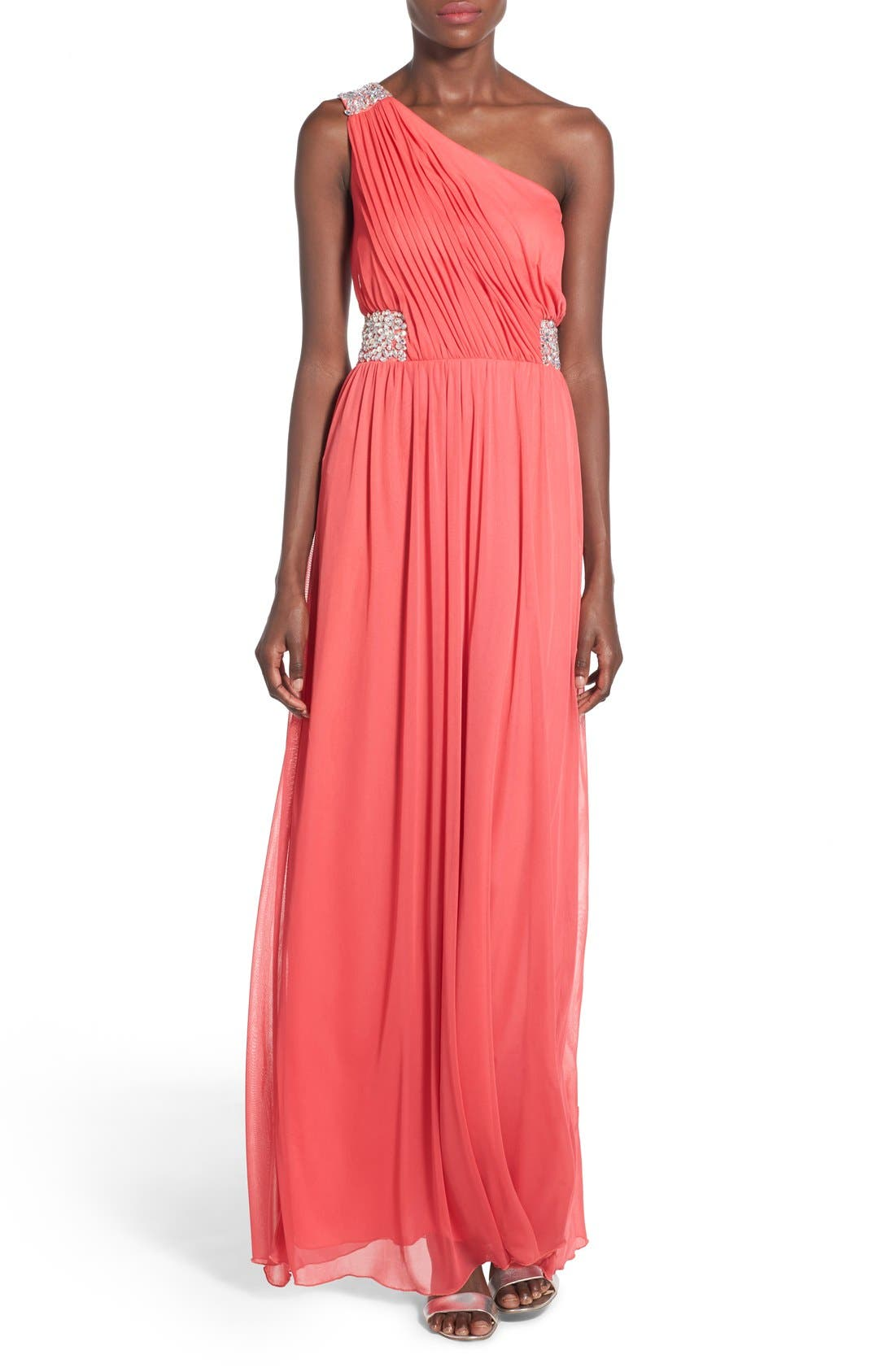 Main Image - Speechless 'Shelby' Embellished One Shoulder Gown