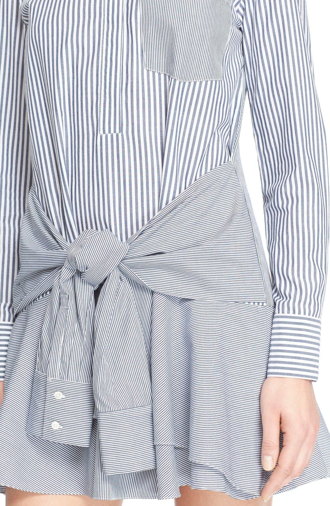 Alternate Image 4  - Derek Lam 10 Crosby Tie Waist Shirtdress