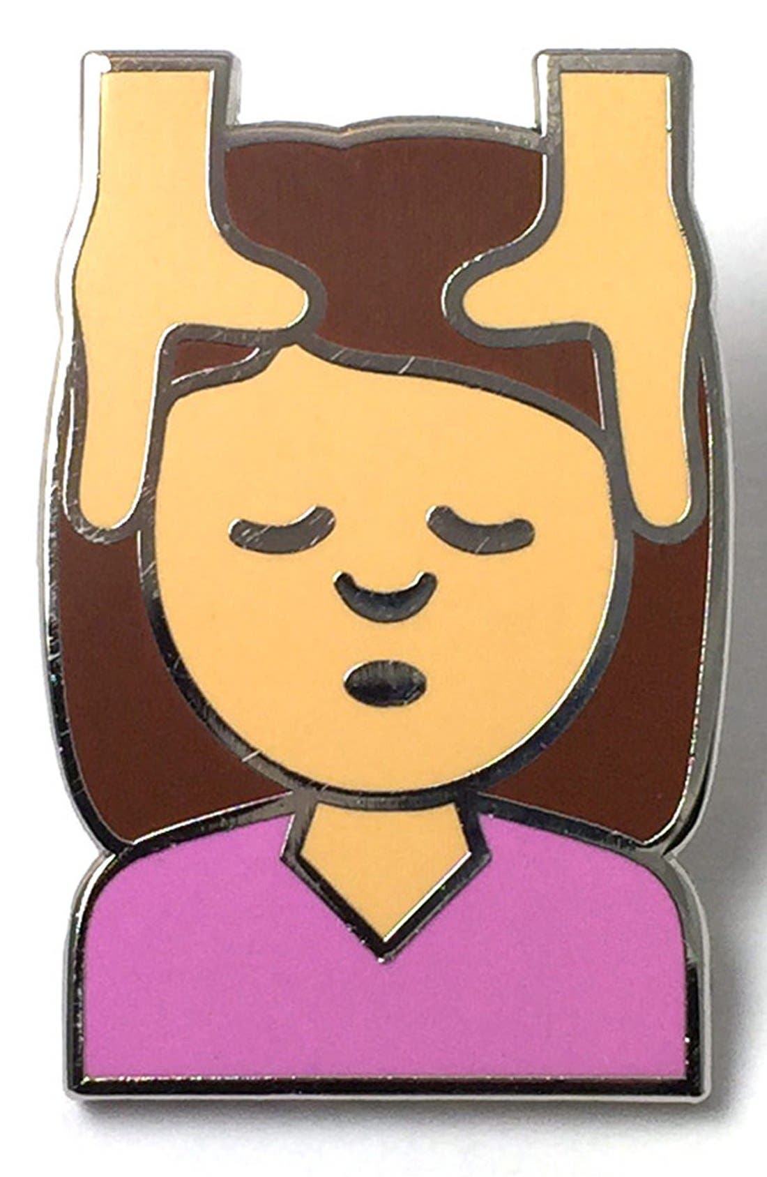 Alternate Image 1 Selected - PINTRILL 'Girl Massage' Fashion Accessory Pin