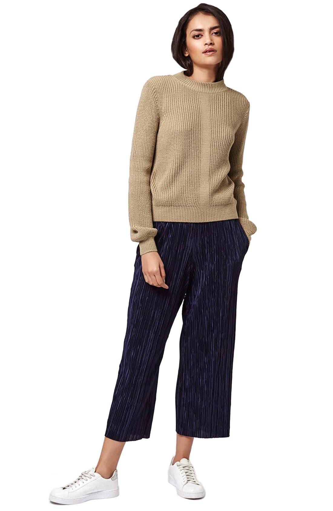 Alternate Image 2  - Topshop Mock Neck Pullover Sweater