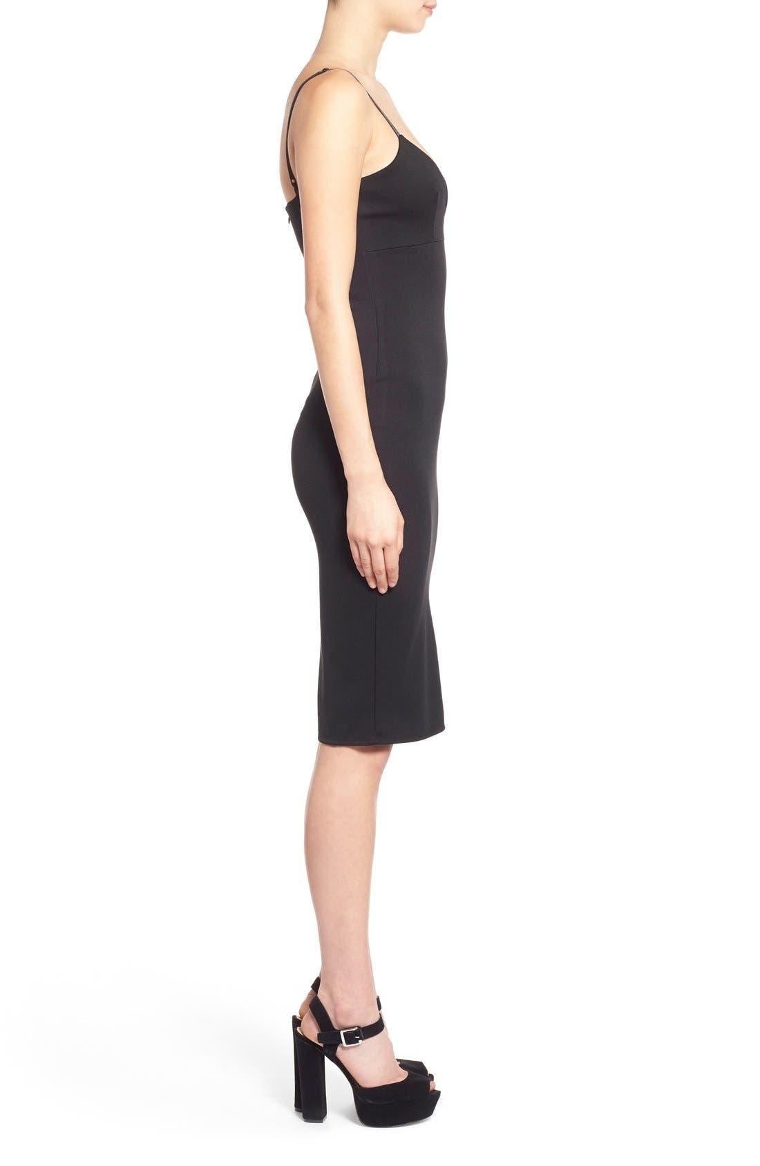 Alternate Image 3  - Missguided V-Neck Body-Con Dress
