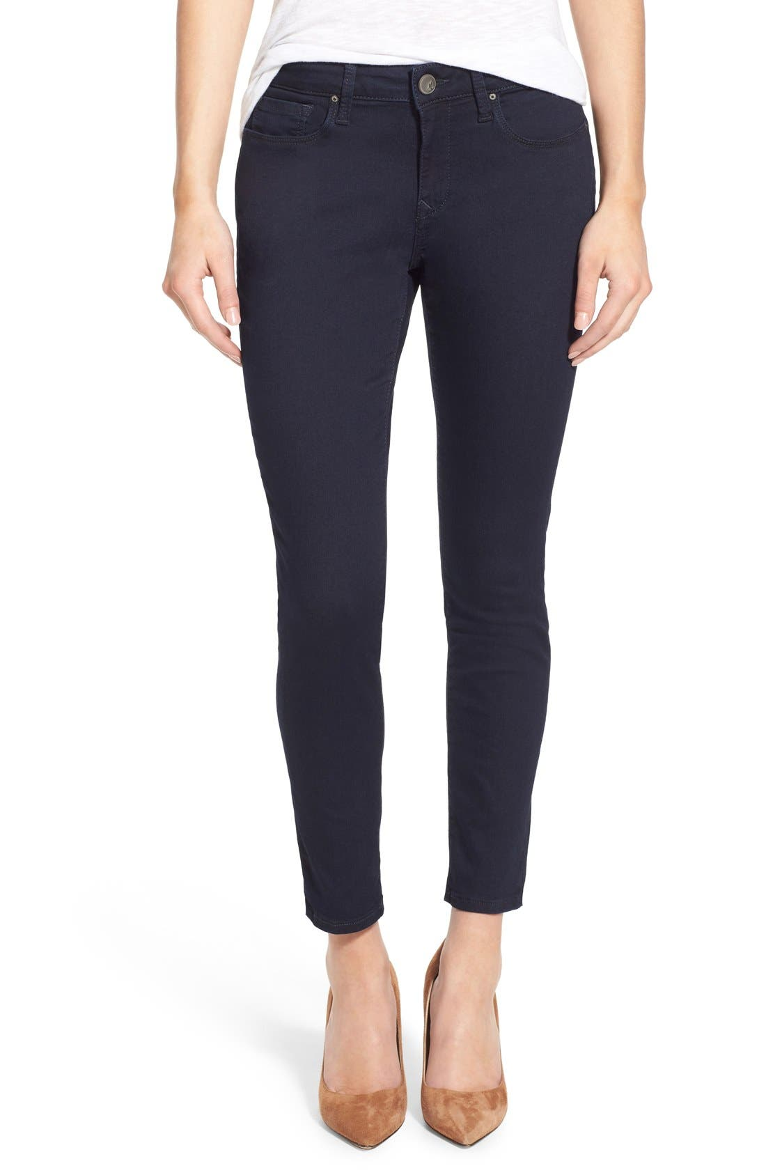 Alternate Image 1 Selected - Mavi Jeans 'Alexa' Stretch Skinny Jeans (Dark Shanti) (Petite)
