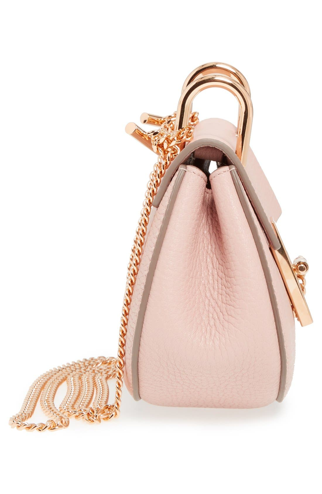Alternate Image 4  - Chloé 'Nano Drew' Lambskin Leather Shoulder Bag
