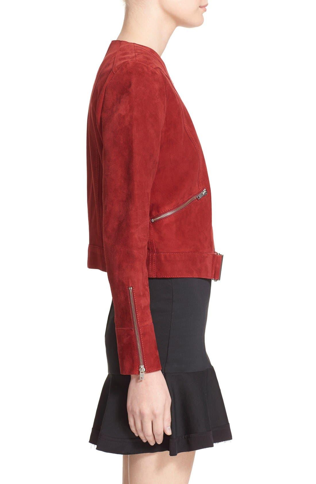Alternate Image 4  - IRO Collarless Suede Moto Jacket