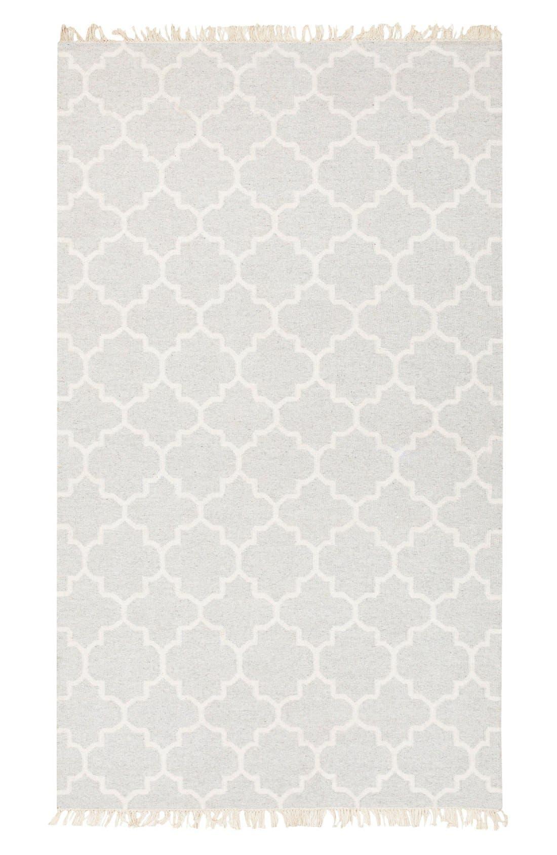 'Isle' Wool Blend Rug,                         Main,                         color, Light Grey